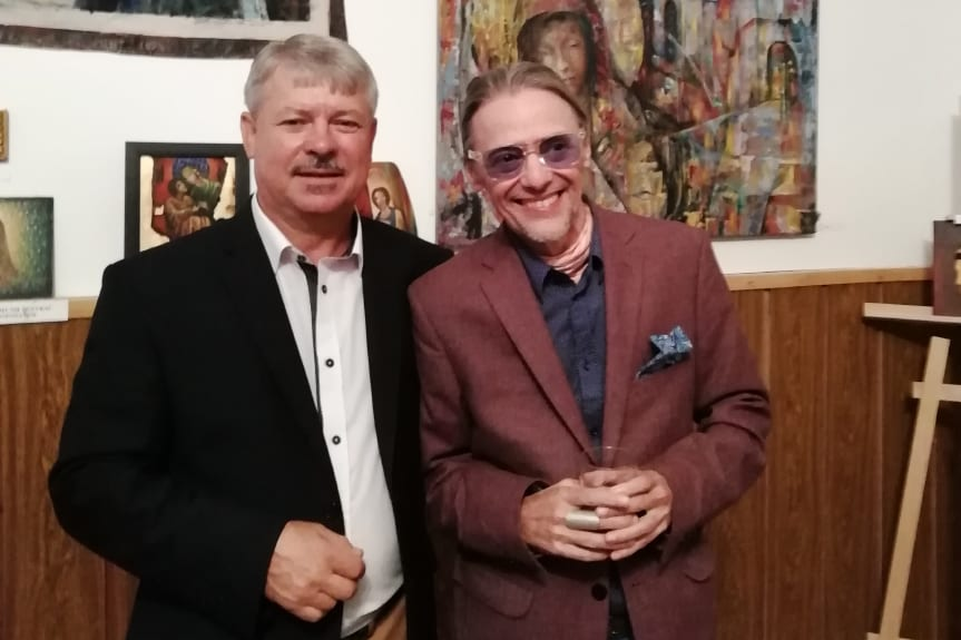 Wernisaż malarstwa Janusza Gilewicza w muzeum w Nowym Żmigrodzie