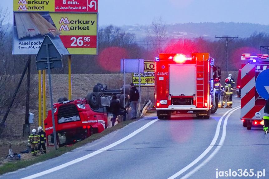 Kolizja ciężarówki w Jaśle