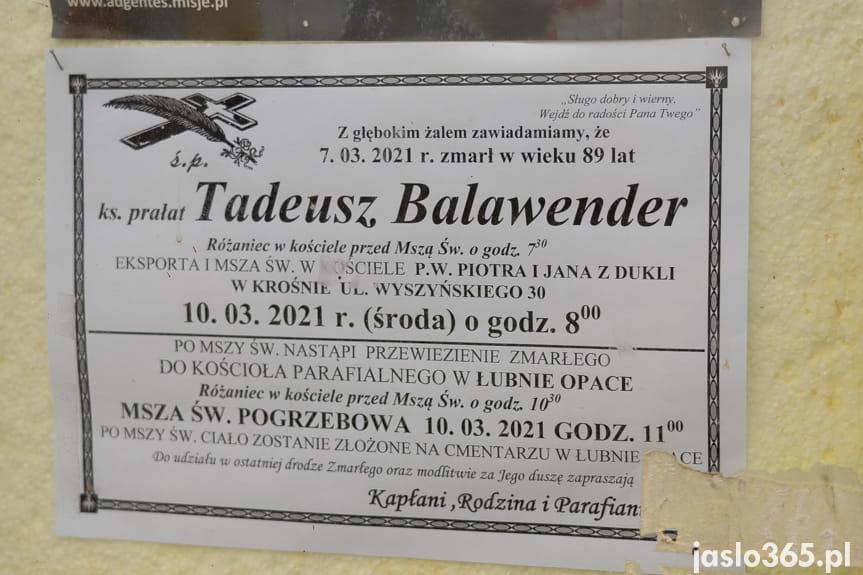 Łubno-Opace. Pogrzeb ks. prał. Tadeusza Balawendera