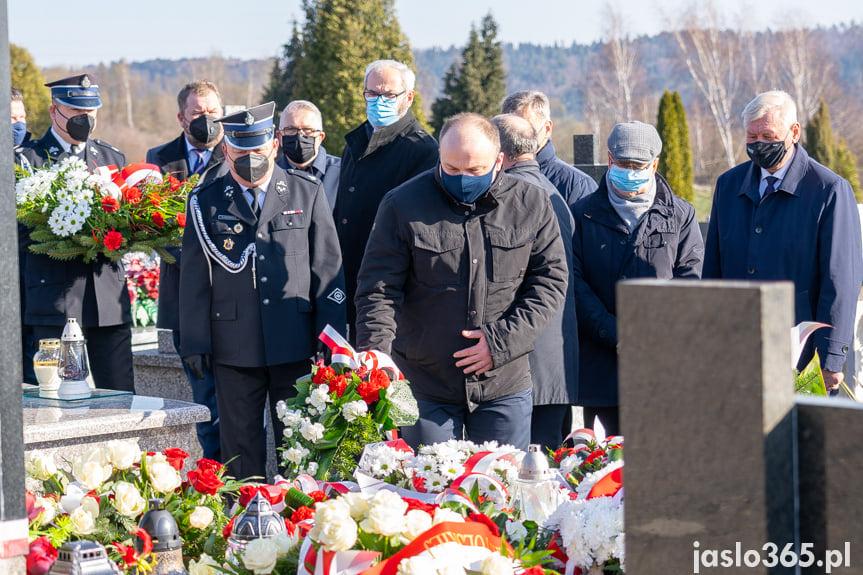 Uroczystość przy grobie senatora Stanisława Zająca
