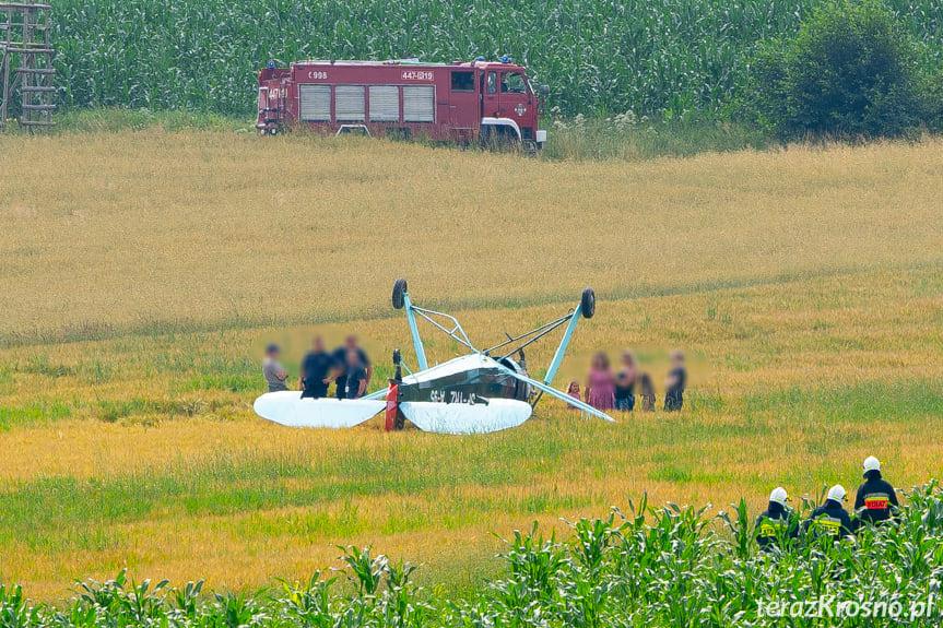 W Chrząstówce doszło do awaryjnego lądowania samolotu