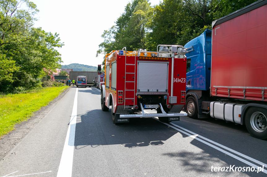 Wypadek w Tylawie na DK19
